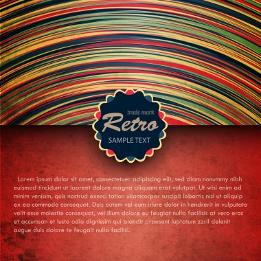 Retro background with a frame stock vector