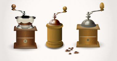Coffee grinder, vector, vector illustration stock vector