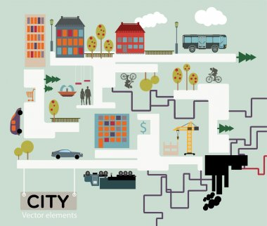 City vector background, info graphic. stock vector