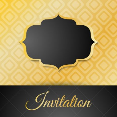 Vintage card with frame stock vector