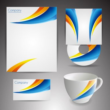 Selected Corporate Templates. Vector Illustration. stock vector