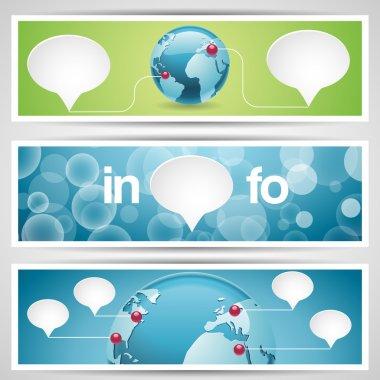 World globe, network icon. stock vector