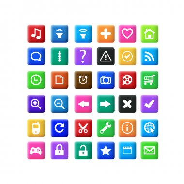 Vector set of icons. stock vector
