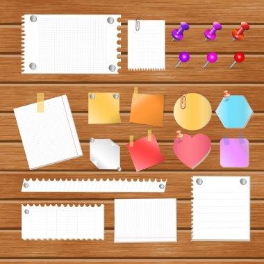 Message paper on board stock vector