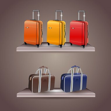 A set of travel bags stock vector