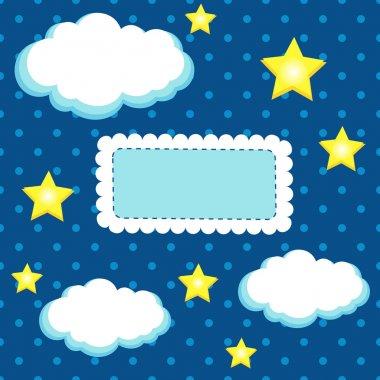 Night sky - vector illustration. stock vector