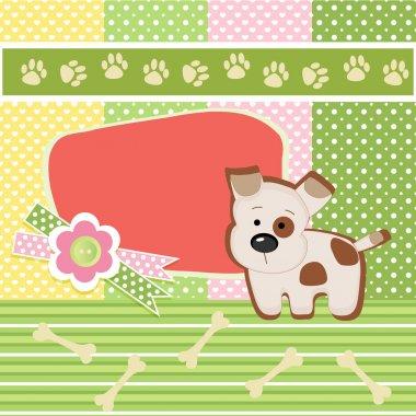 Birthday card with dog stock vector