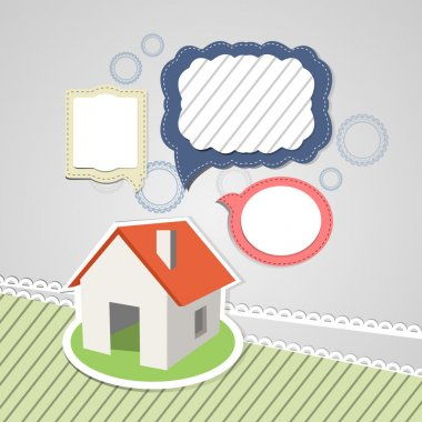 House with speech bubbles stock vector
