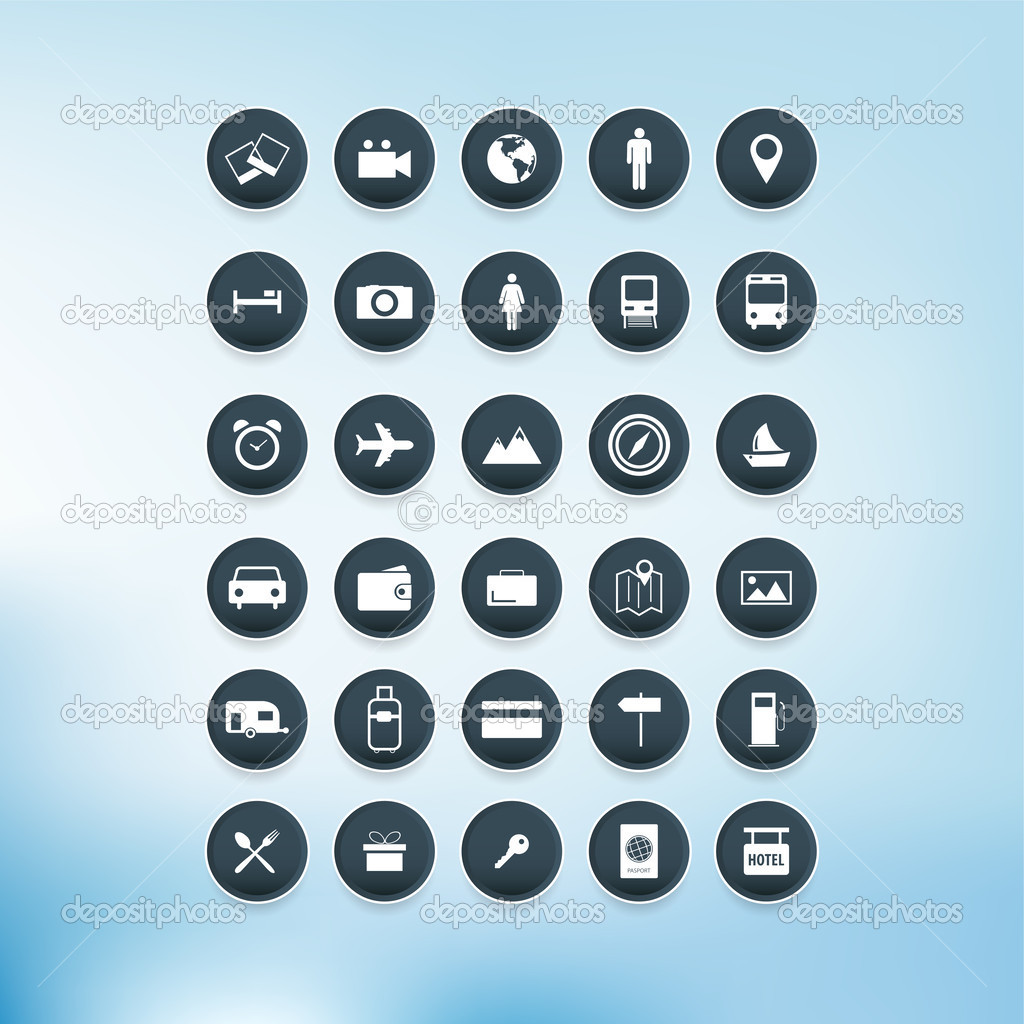 Vector Icon set, vector illustration stock vector