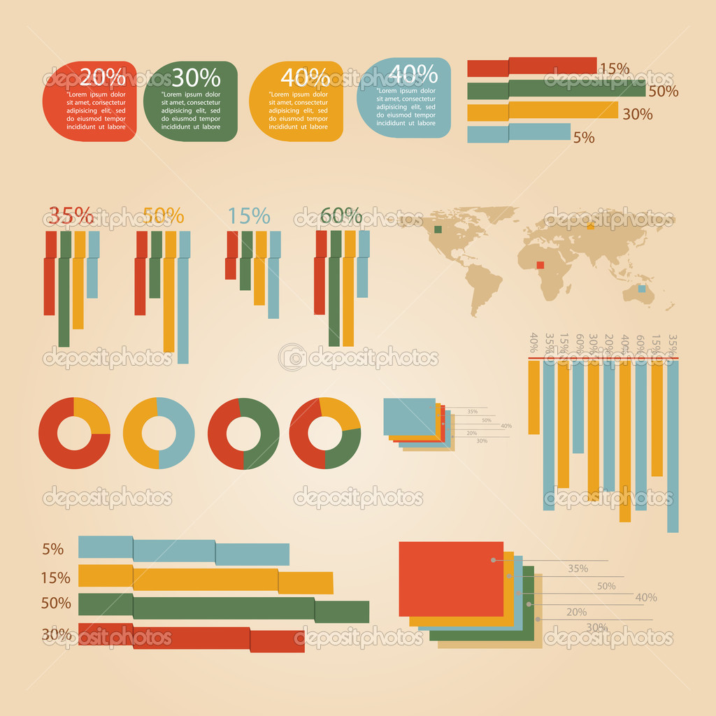 Business infographic elements, vector illustration stock vector