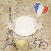 French background, vector illustration