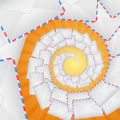 Envelopes forming spiral staircase