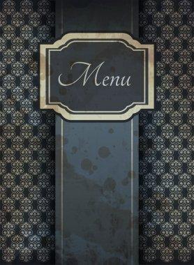 Illustration of retro graphic element for menu stock vector
