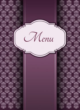 Illustration of a vintage graphic element for menu stock vector