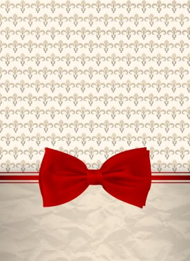 Retro background with red bow stock vector