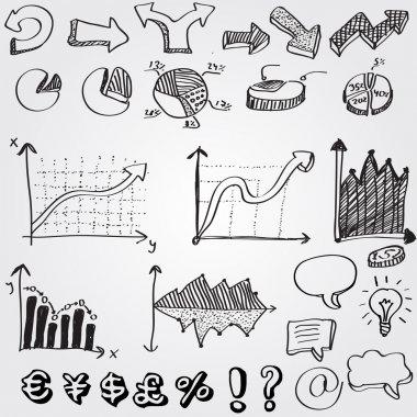Set of arrows, vector illustration stock vector