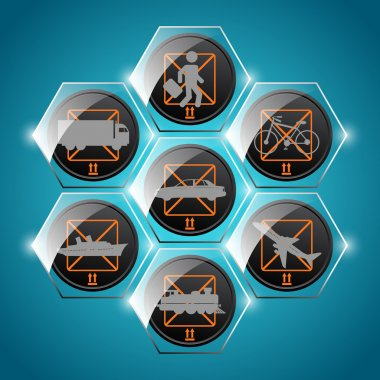 Vector set of transport icons stock vector