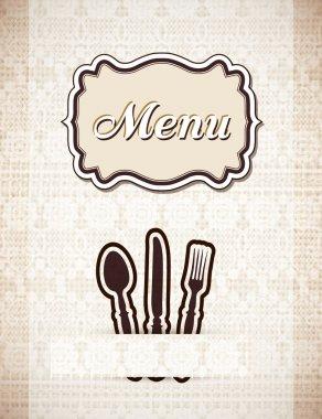 Restaurant menu retro style,vector illustrations stock vector