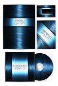 Professzionális vállalati-azonosság csomag vagy üzleti kit művészi, üzleti magában foglalja a Cd borító, névjegykártya, boríték és levél
