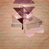 moderne Vektorgrafik auf braunem Hintergrund