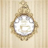 Coffee menu retro, vector illustration