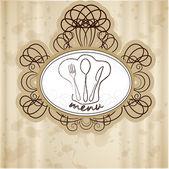 Étterem étlap retro stílus, vektor illusztrációk