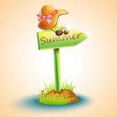 Pfeiltafel Sommer mit Hut und Brille