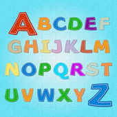 Alphabet vector contrariwise, vector illustration
