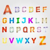 Alphabet vector contrariwise, vector illustration