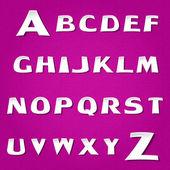 Violet alphabet Vector, vector illustration