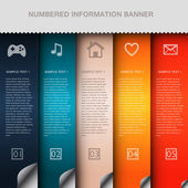 colorful number option banners