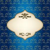 blauer Vintage-Rahmen für Grußkarte