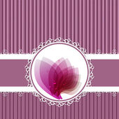Rózsaszín évjárat címke vektor keret a kép belsejében