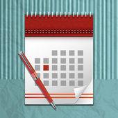 vektorový obrázek ikony kalendáře krásné spirálové a kuličkové pero