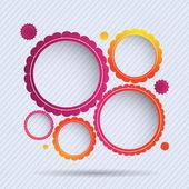 kolekce snímků kruh. vektorové ilustrace.