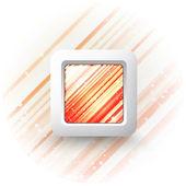 tlačítko čtvercové vektor na světlé pozadí
