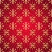 Red background with sunburst