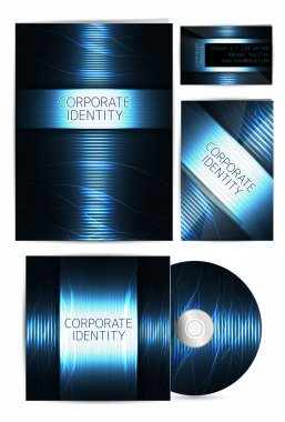 Professional corporate identity kit or business kit with artistic, your business includes CD Cover, Business Card, Envelope and Letter stock vector