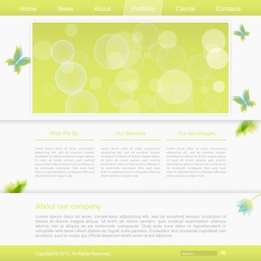 Template of website, vector illustration stock vector