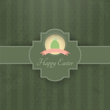 Vintage background for Happy Easter stock vector