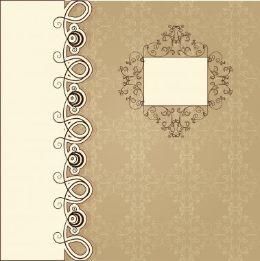 Scrapbook template, vector illustration stock vector
