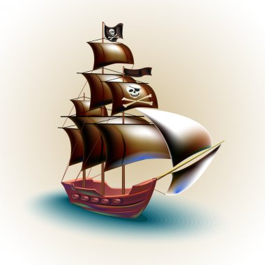 Pirate ship vector illustration stock vector