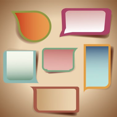 Set of colorful speech bubbles stock vector