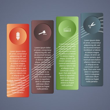 Conceptual vector illustration with folders and place for your text. For different business design stock vector