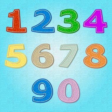 Vector set of number stock vector