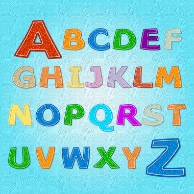 Alphabet vector contrariwise, vector illustration stock vector