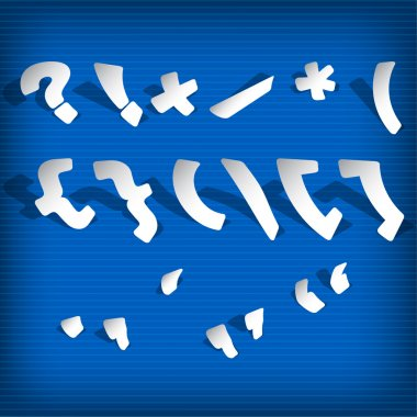 Speech marks and punctuation symbols stock vector