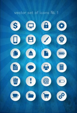 Set of icons, vector illustration stock vector