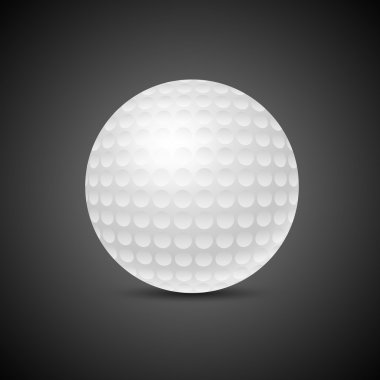 Golf ball on black background stock vector