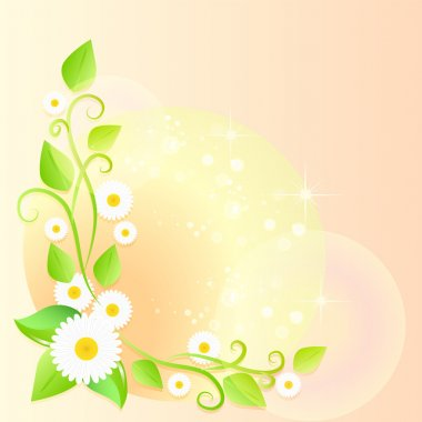 Light spring floral background stock vector